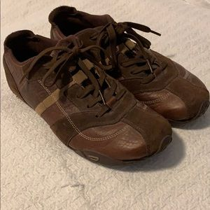 Diesel Brown Tennis Shoes Sneakers Size 9